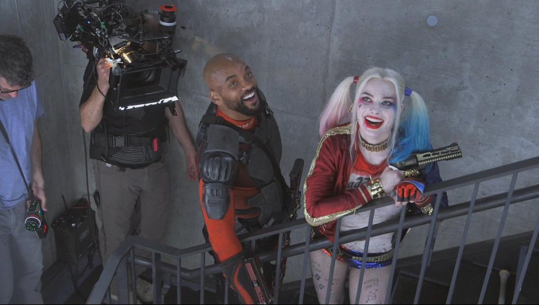 Margot Robbie y Will Smith durante el rodaje de Escuadrón Suicida