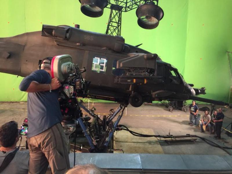 Fotografía compartida por David Ayer del set de Escuadrón Suicida