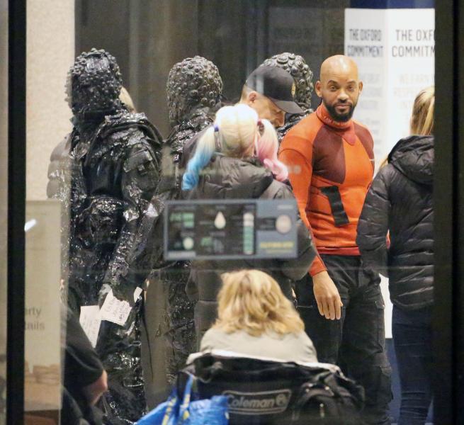 Will Smith durante el rodaje de Escuadrón Suicida