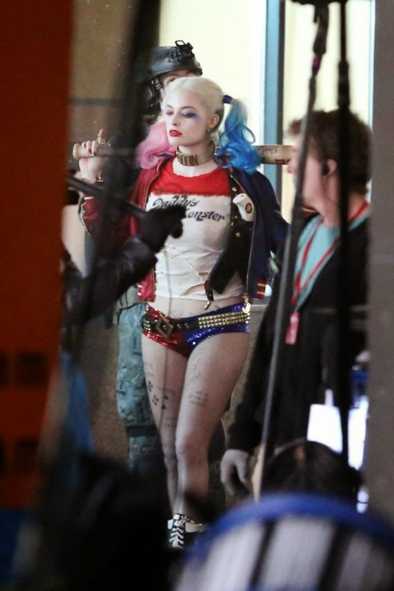 Margot Robbie en el set de filmación