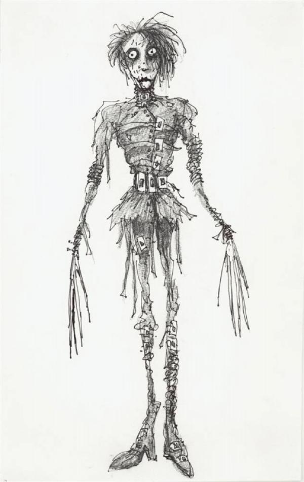 Dibujo de El joven manos de Tijera