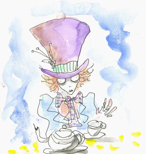 El sombrerero de Alicia en el país de las maravillas