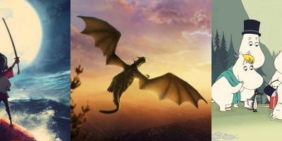Películas infantiles y familiares: Kubo y la búsqueda del Samurái, Mi amigo el dragón, Los Moomin la película