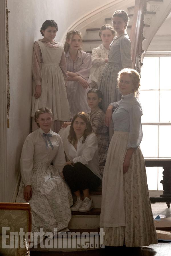 Sofia Coppola junto a las actrices de The Beguiled