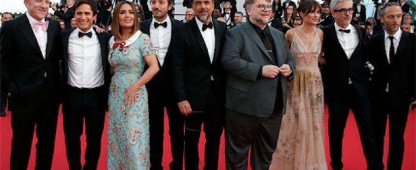 Foto histórica de directores y actores mexicanos en Cannes 2017