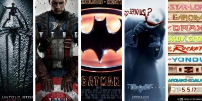 Los 50 mejores pósters de películas de superhéroes
