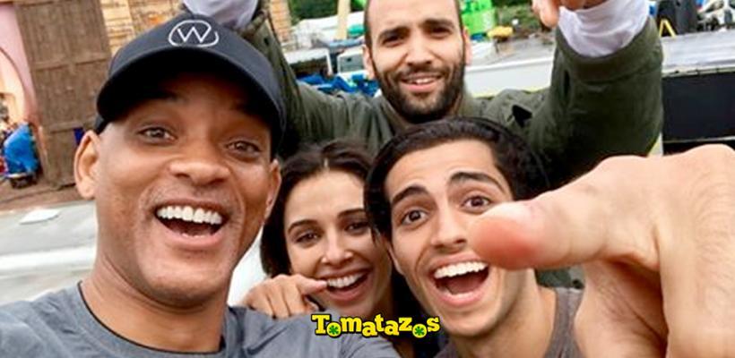 Aladdin: Will Smith comparte la primera imagen oficial del elenco en el set de filmación