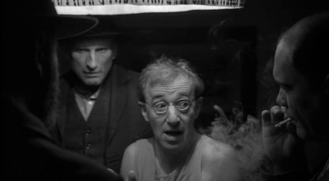 Woody Allen and James Rebhorn in Shadows and Fog (1991)