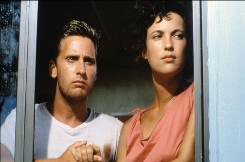 Emilio Estevez and Laura Harrington in Maximum Overdrive (1986)