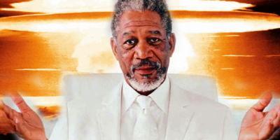 Morgan Freeman llama a los estadounidenses a la guerra contra Rusia (no es broma)