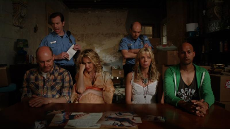 Leslie Bibb, Rob Huebel, Rob Corddry, Paul Scheer, Keegan-Michael Key, and Riki Lindhome in Hell Baby (2013)