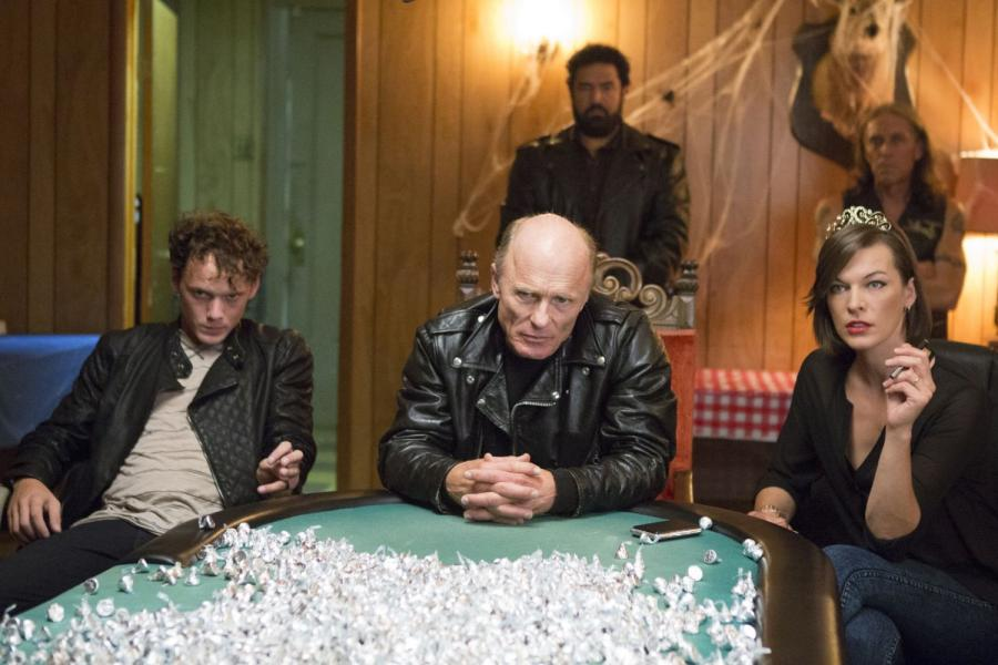 Ed Harris and Anton Yelchin in Cymbeline (2014)