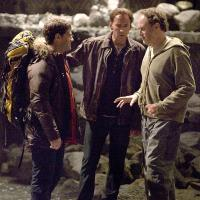 Nicolas Cage, Jon Turteltaub, and Justin Bartha in National Treasure: Book of Secrets (2007)