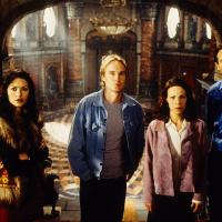 Liam Neeson, Lili Taylor, Catherine Zeta-Jones, and Owen Wilson in The Haunting (1999)