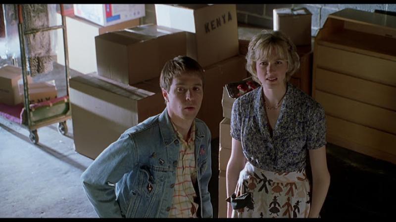 Sam Rockwell and Christina Kirk in Safe Men (1998)