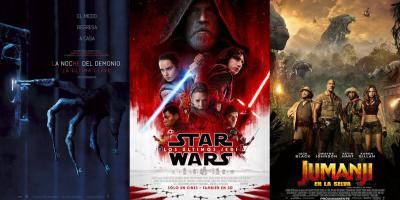 Jumanji en la Selva y La Noche del Demonio: La Última Llave superarán a Star Wars: Los Últimos Jedi en taquilla