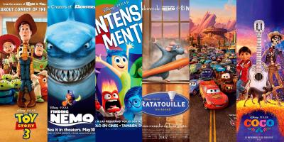 Todas las películas de Pixar según la taquilla