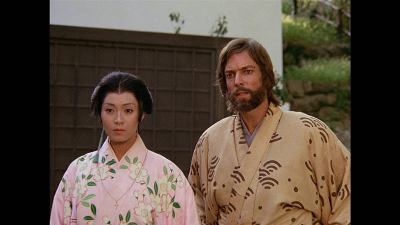 Richard Chamberlain y Yôko Shimada en Shogun (1980)