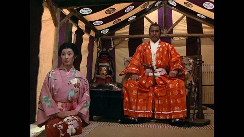 Toshirô Mifune y Yôko Shimada en Shogun (1980)