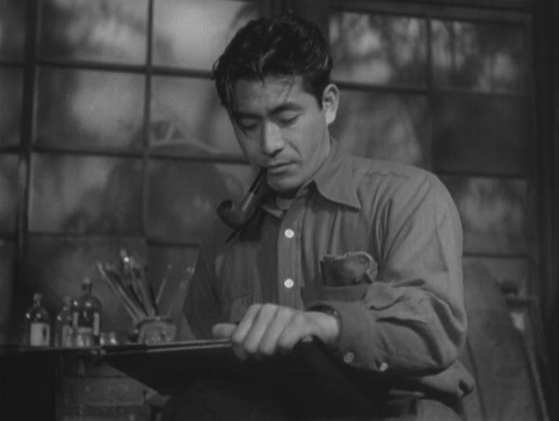 Toshirô Mifune en Escándalo (1950)