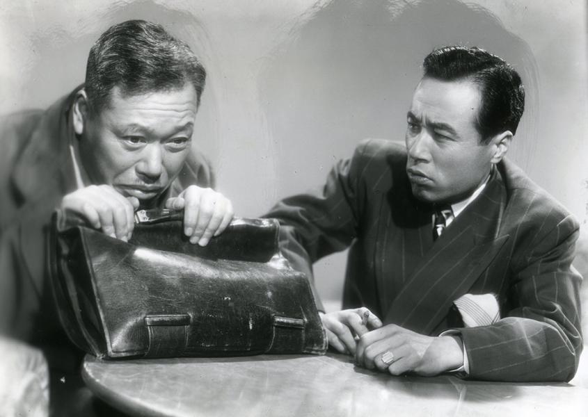 Shin'ichi Himori y Takashi Shimura en Escándalo (1950)