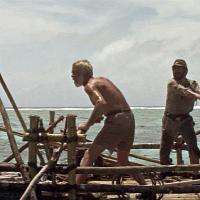 Lee Marvin y Toshirô Mifune en Infierno en el Pacifico (1968)