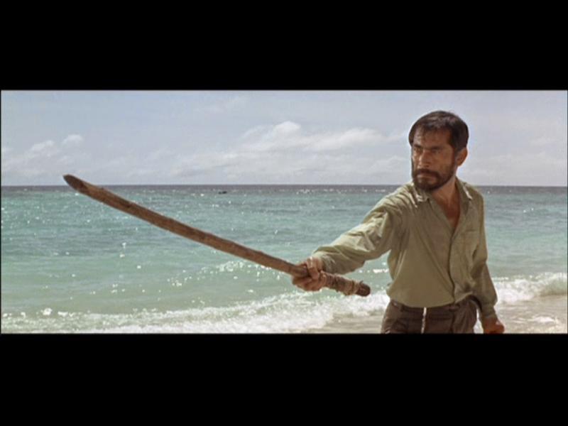 Toshirô Mifuneen Infierno en el  Pacifico (1968)