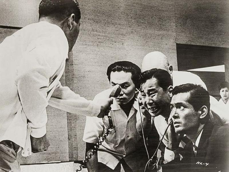 Tatsuya Nakadai y Yutaka Sada en Cielo e infierno (1963)