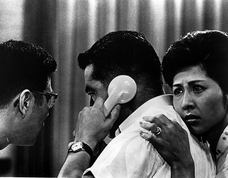 Toshirô Mifune y Kyôko Kagawa en Cielo e infierno (1963)