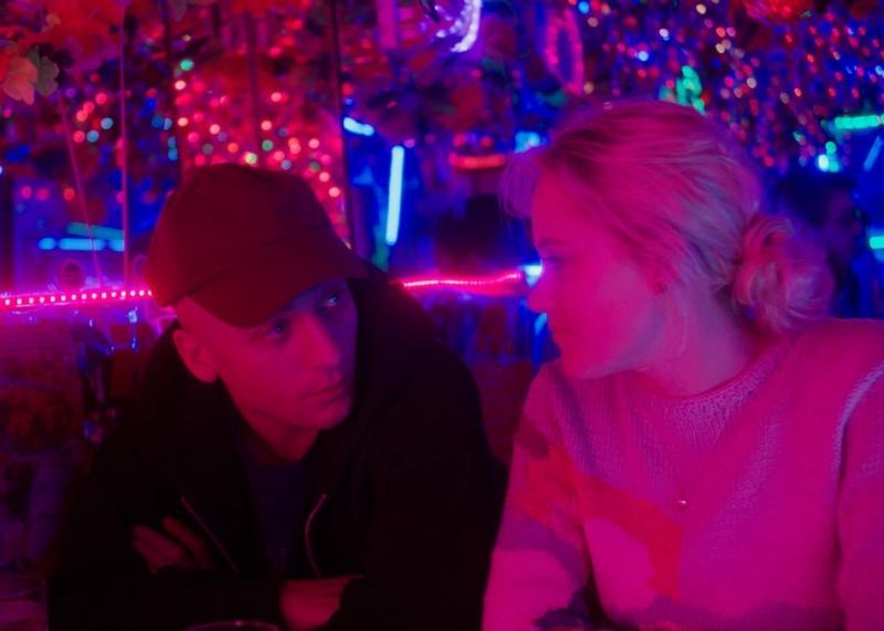 Jeremy Allen White y Maika Monroe en Shotgun (2018)