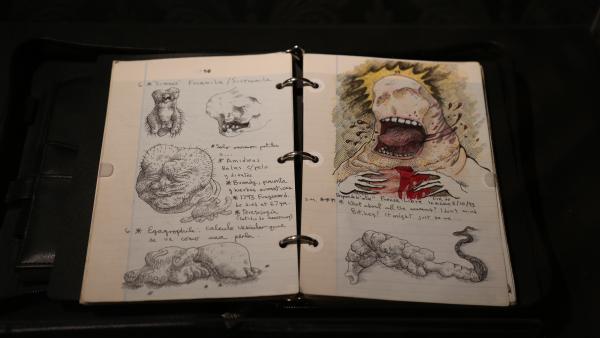 Bocetos de Gillermo del Toro