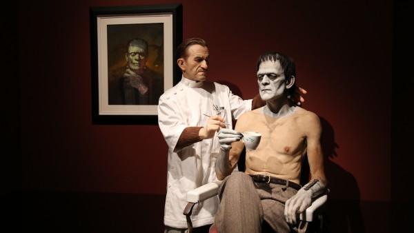 Jack Pierce y Boris Karloff