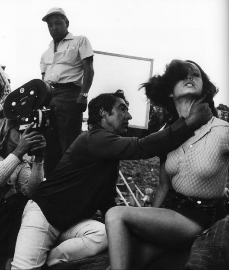 Luis Alcoriza, Alma Muriel y Álex Phillips Jr. en  Mecánica nacional (1972)