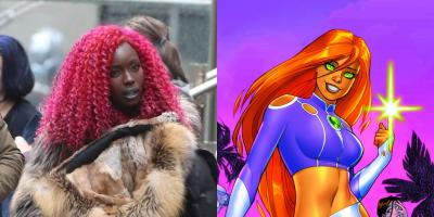 La actriz que interpreta a Starfire responde a quienes criticaron la apariencia de su personaje