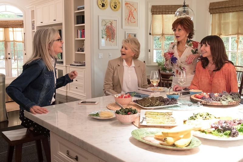 Candice Bergen, Jane Fonda, Diane Keaton y Mary Steenburgen en Cuando Ellas Quieren (2018)