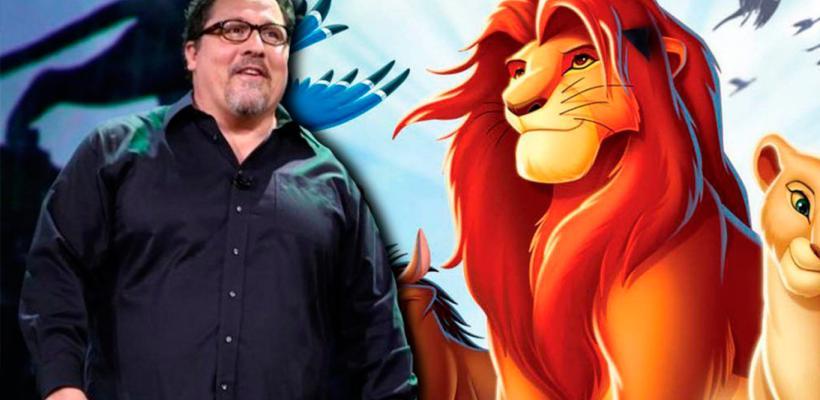 Jon Favreau comparte una foto con los actores de El Rey León