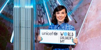 Millie Bobby Brown, de Stranger Things, es la embajadora más joven de la Unicef