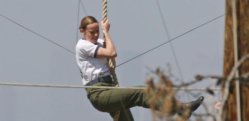 Capitana Marvel: se filtran nuevas fotos de los reshoots con Brie Larson