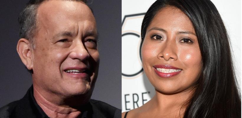 Roma: Así fue el emocionante encuentro entre Tom Hanks y Yalitza Aparicio