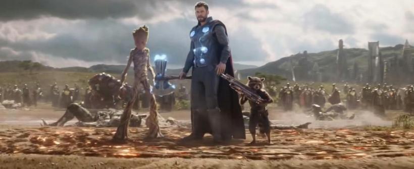 Thor llega a Wakanda - Escena de Avengers: Infinity War