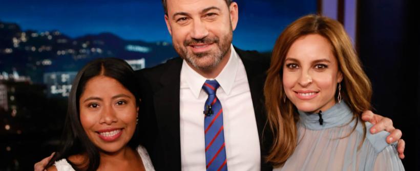 Yalitza Aparicio y Marina de Tavira en Jimmy Kimmel Live!