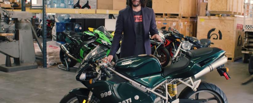 Keanu Reeves y su colección de motocicletas