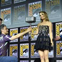 Thor: Love and Thunder (2021). Natalie Portman, Taika Waititi, Kevin Feige y Chris Hemsworth. Fotografía de Alberto E. Rodriguez/Getty Images para Disney - © 2019 Getty Images - Imagen cortesía de gettyimages.com