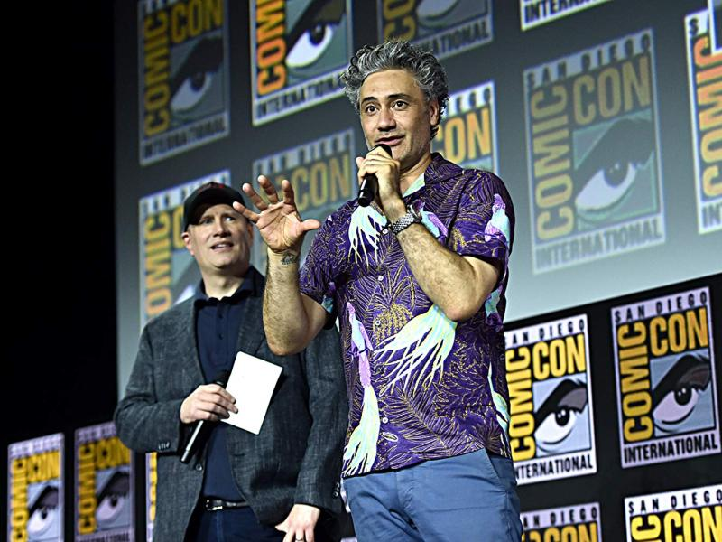 Thor: Love and Thunder (2021). Taika Waititi y Kevin Feige. Fotografía de Alberto E. Rodriguez/Getty Images para Disney - © 2019 Getty Images - Imagen cortesía de gettyimages.com