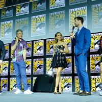Thor: Love and Thunder (2021). Natalie Portman, Taika Waititi, Kevin Feige, Tessa Thompson  y Chris Hemsworth. Fotografía de Alberto E. Rodriguez/Getty Images para Disney - © 2019 Getty Images - Imagen cortesía de gettyimages.com