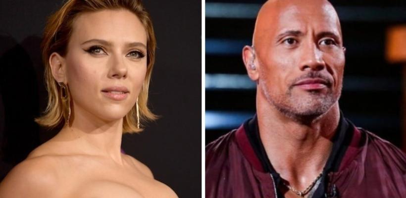 Scarlett Johansson y Dwayne Johnson son los intérpretes mejor pagados del 2019