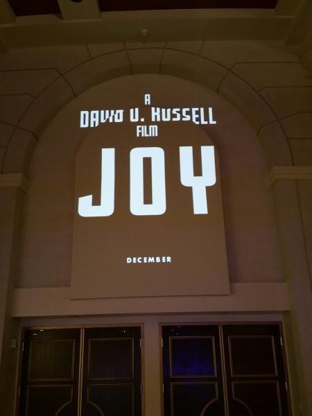 Logo de Joy, de David O. Russell. (Foto de Steven Weintraub - Collider.com)