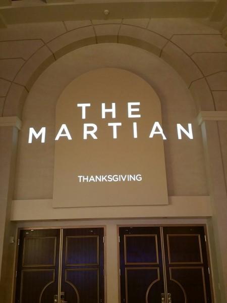 Logo de The Martian, de Ridley Scott. (Foto de Steven Weintraub - Collider.com)