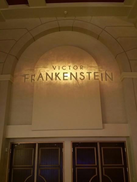 Logo de Victor Frankenstein. (Foto de Steven Weintraub - Collider.com)