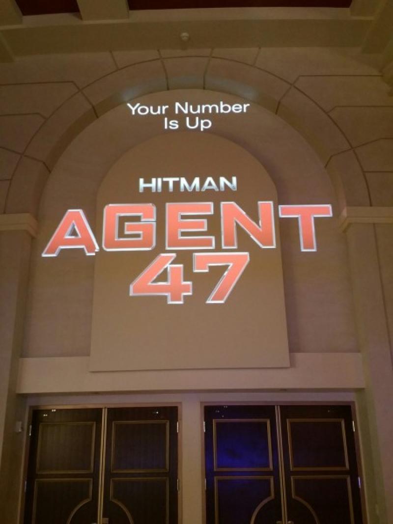 Logo de Hitman: Agente 47. (Foto de Steven Weintraub - Collider.com)
